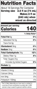 100_Crushed_Nutrition-Facts_Pineapple-Blend