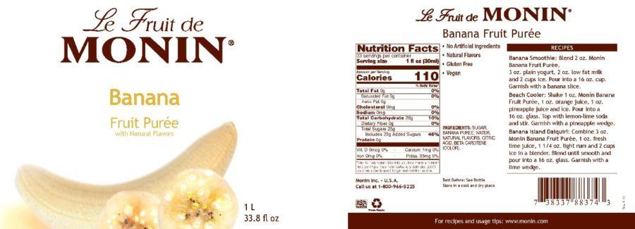 Monin Banana Puree label