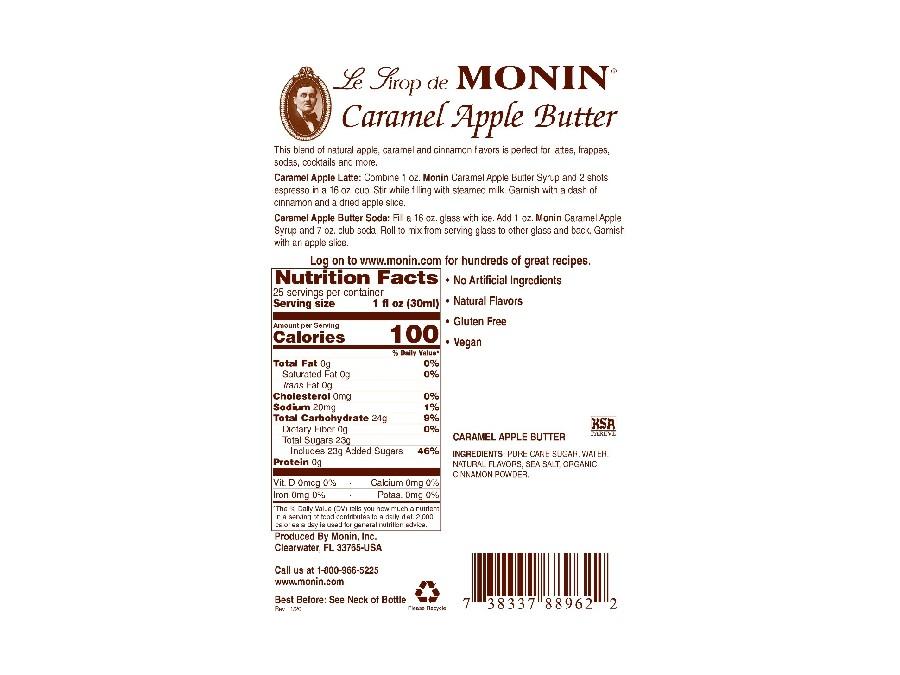 Monin Caramel Apple Butter label