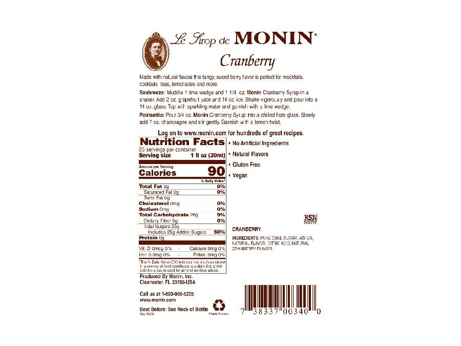 Monin Cranberry Label